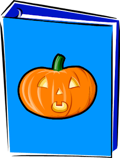Picture of binder with pumpkin on cover