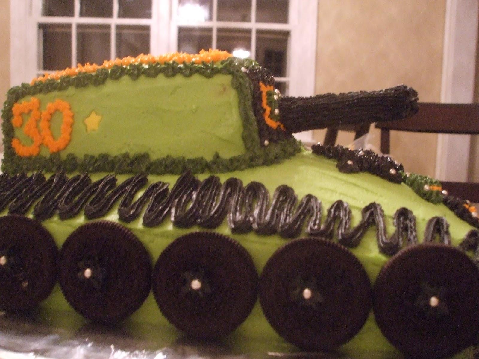 Dee Vils Diy Army Tank 30th Birthday Cake