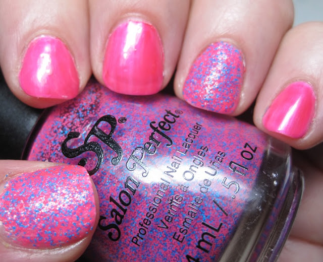 Pink Cookie neon with accents of Salon Perfect Shocked.