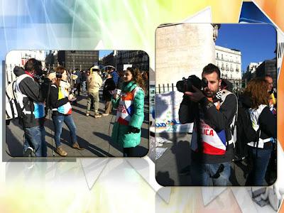 Trabajadores de TMEX en la manifestación de la Marea Ciudadana del 23F
