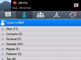 Upgrade BBM (Blackberry Messenger) v8.5.0.18