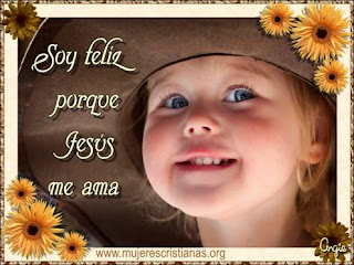 Tarjeta – Soy feliz porque Jesús me ama