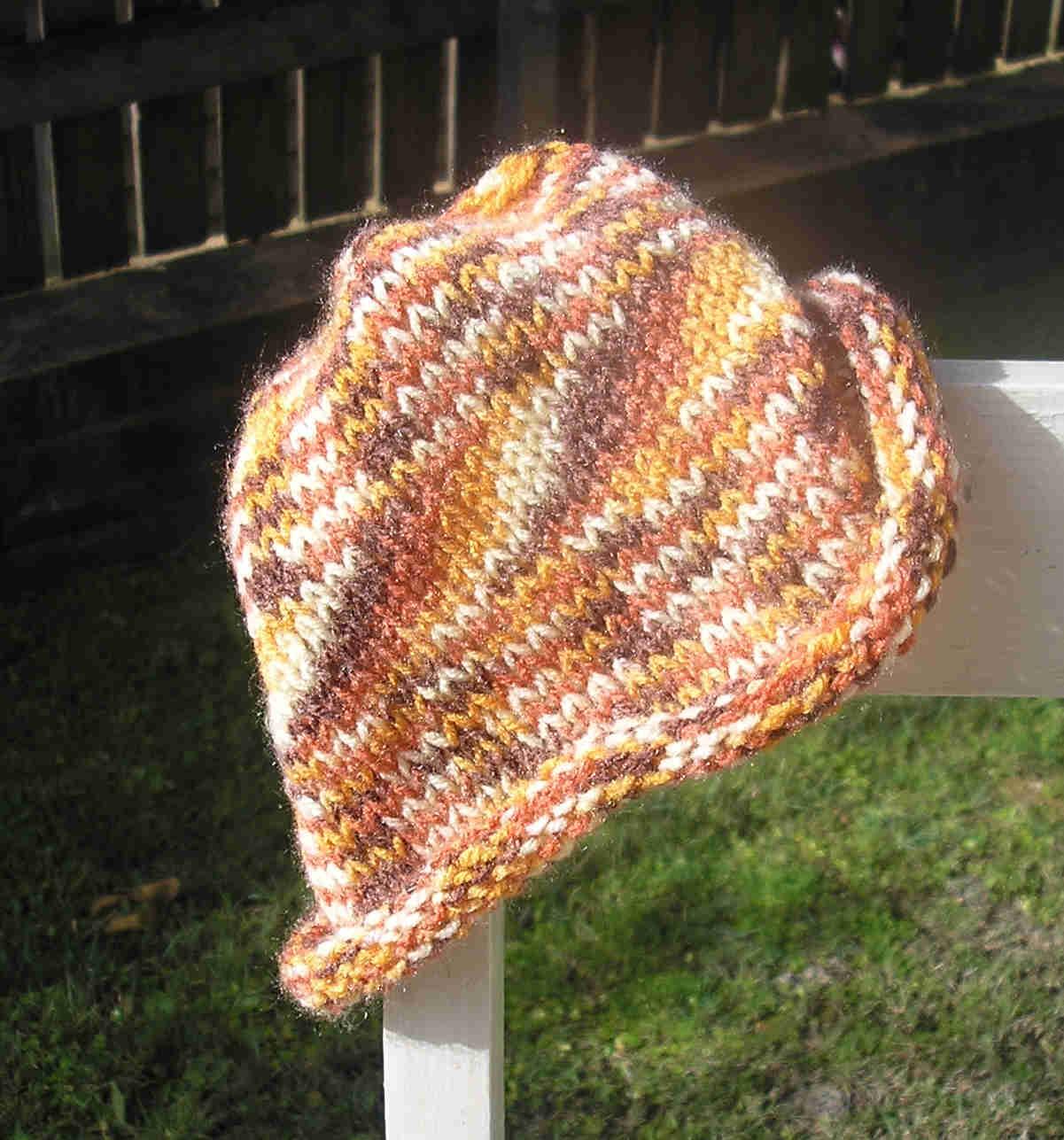 As snug as a bug in a rug: How to knit a simple roll brim beanie