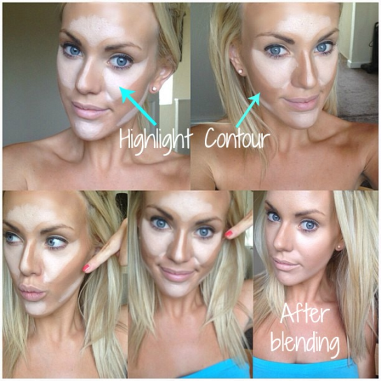 How to highlight and contour, makeup tutorial, The right way to contour