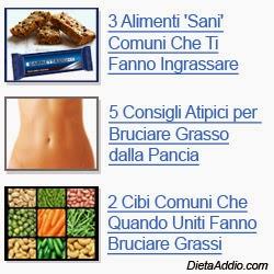 Importanza del cibo per perdita di peso
