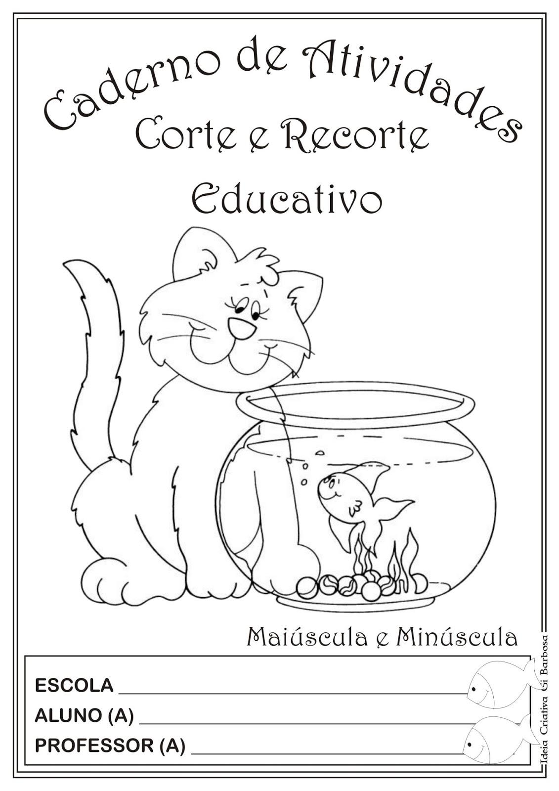 Favoritos Caderno de Atividades Grátis para imprimir - Corte e Recorte  LK39