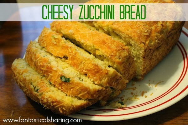 Cheesy Zucchini Bread | Delicious, soft bread with zucchini and two different cheeses #recipe