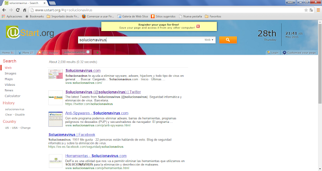 uStart.org virus results
