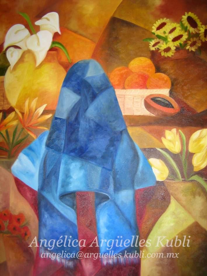 Rebozo azul