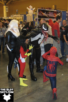 Wizard World New Orleans Comic-Con 2012 - Black Cat, Spider-Woman, Venom & Spider-Man