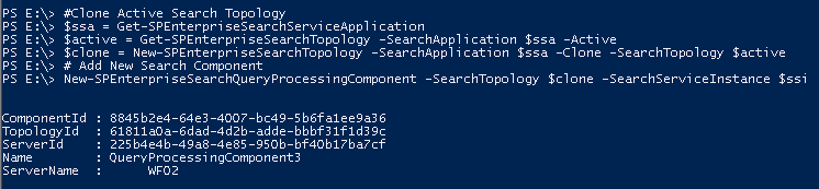Create a Sharepoint 2013 Search Application with PowerShell