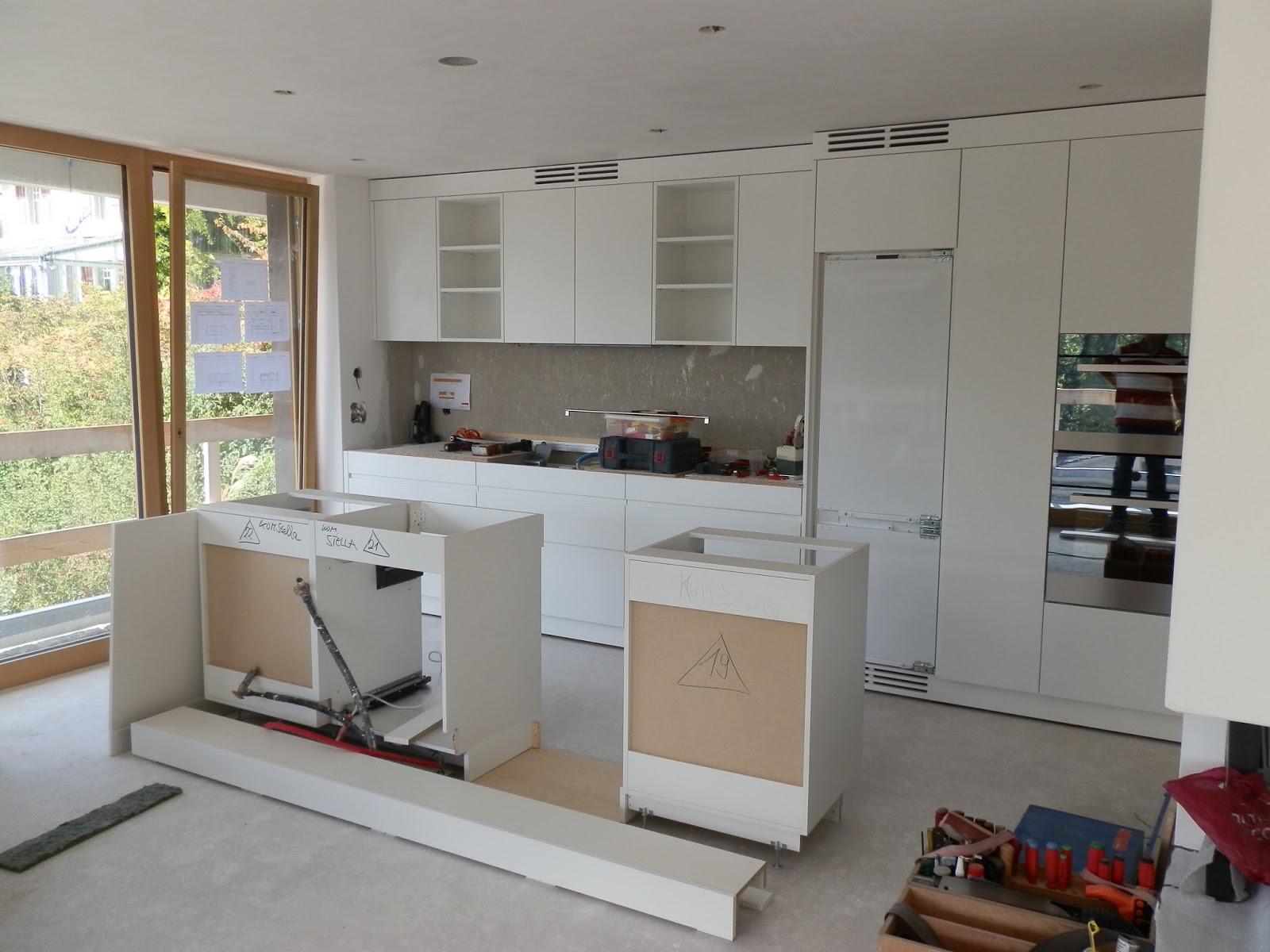 Neubau Wohnhaus, Burgerstrasse 5, 3063 Ittigen: Küchenmontage, Umgebung