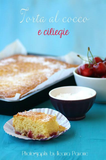 torta al cocco e ciliegie con farina arifa