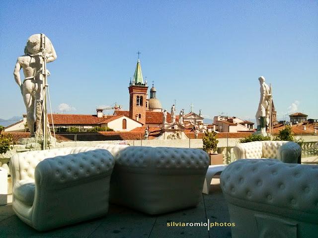 La terrazza della Basilica Palladiana