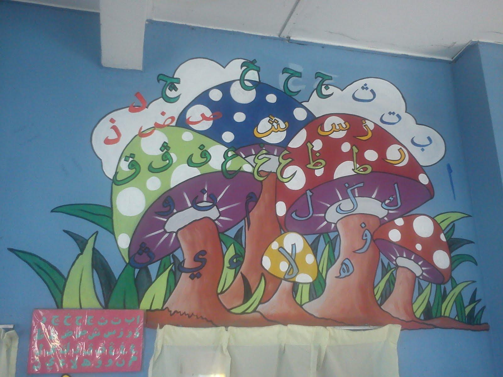 Pelukis mural shah alam cendawan comel for Mural kartun