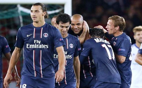 Foto Pertandingan Paris Saint Germain Vs Dynamo Kiev