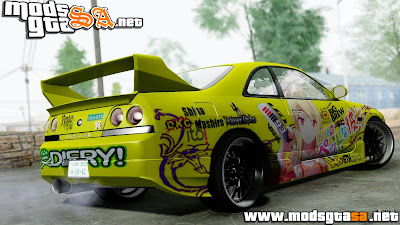SA - Nissan Skyline R33 Shiina Mashiro Itasha