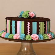 Fondant Ribbon Roses Cake