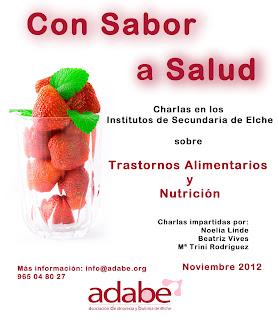 Charlas en IES de Elche sobre Trastornos Alimentarios y Nutrición