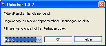 Hapus File, Folder dengan Unlocker