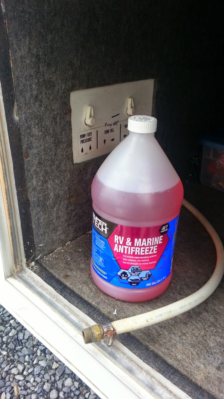 "Winterizing with the ""Pink Stuff"" - RV Antifreeze"