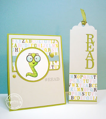 #Read card and bookmark-designed by Lori Tecler/Inking Aloud-stamps from SugarPea Designs