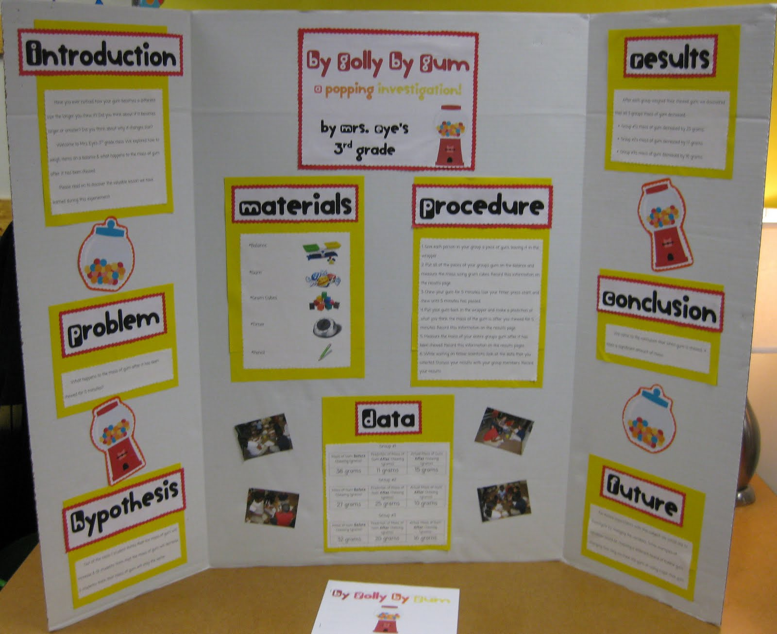3rd grade science fair project