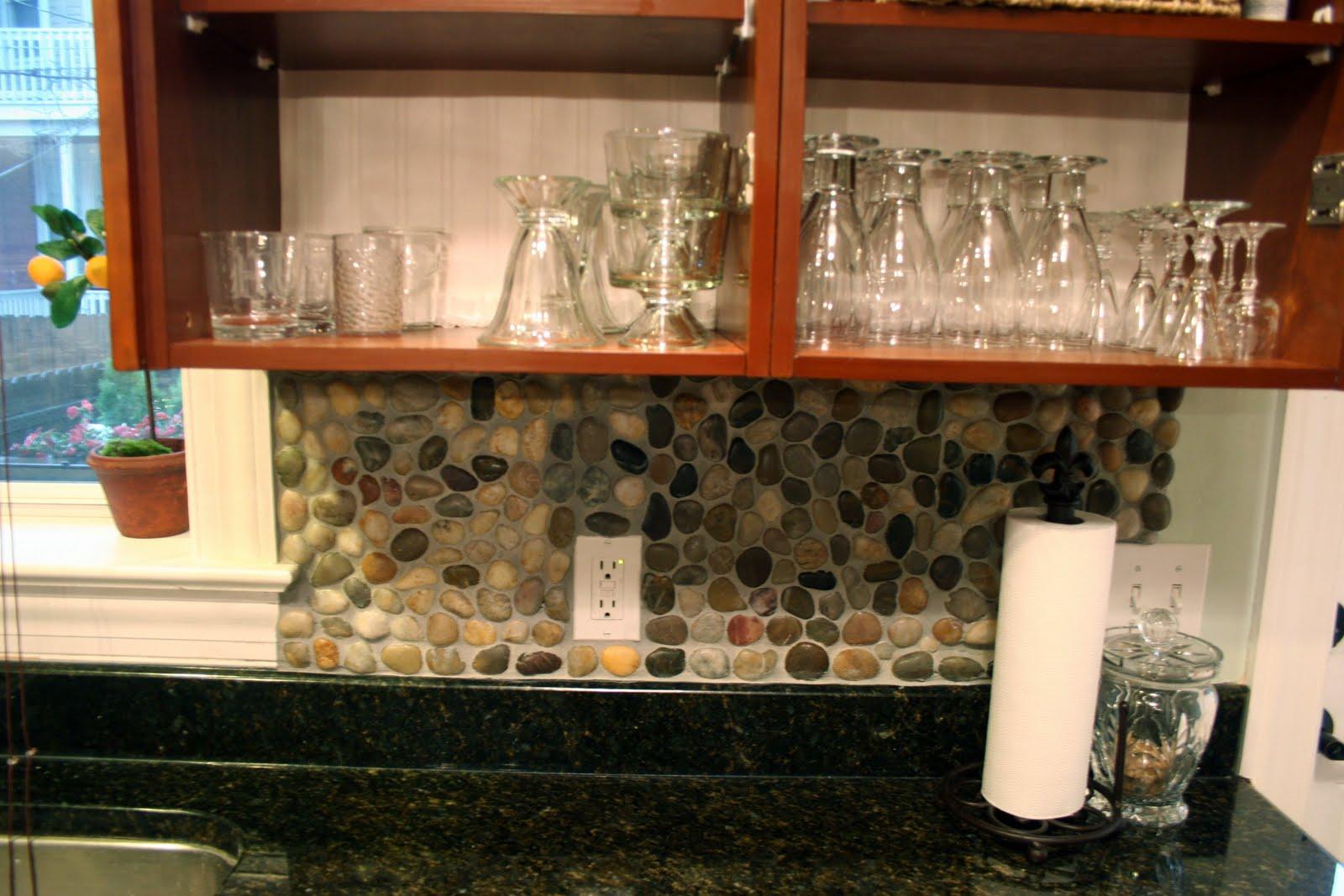 Garden Stone Kitchen Backsplash Tutorial how to backsplash