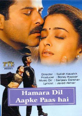Poster Of Bollywood Movie Hamara Dil Aapke Paas Hai (2000) 300MB Compressed Small Size Pc Movie Free Download World4ufree.Org
