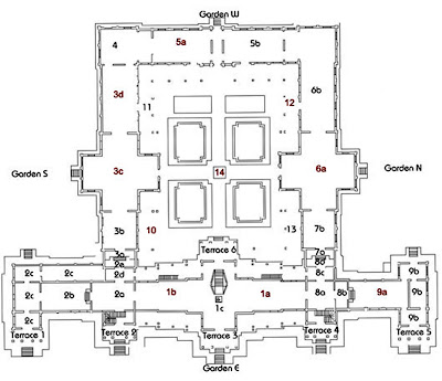 Schéma du Musée national du Cambodge à Phnom Penh