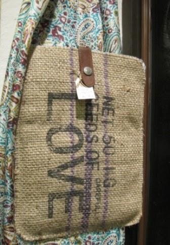 Funda tablet rústica tela saco