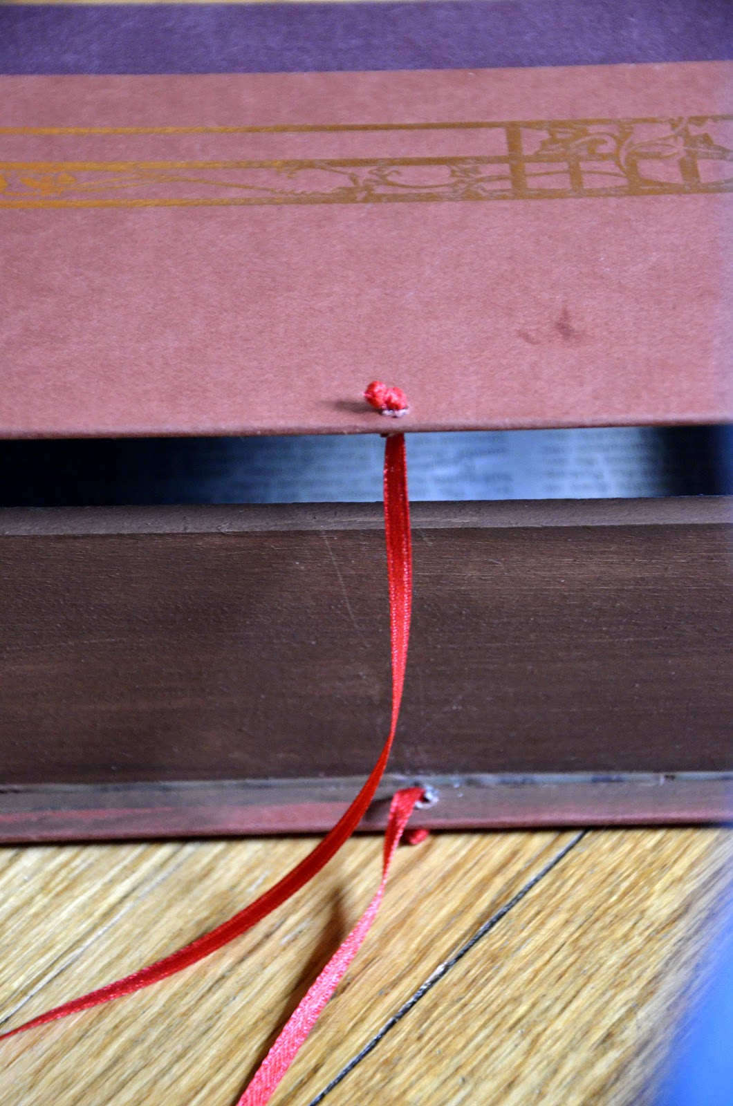 Hello There Handmade Banner How To Turn An Old Book Into A Box Diy Electrical Wiring Books Pull The Ribbon Back Open