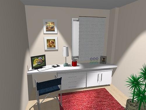 Ambientes & Ideias Home Offices ~ Bancada No Quarto
