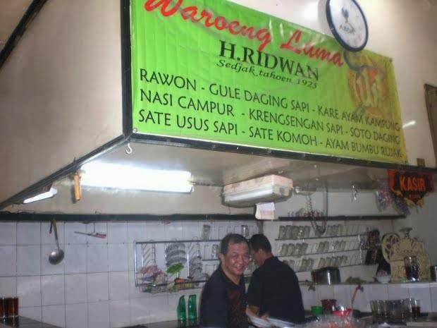 Wisata Kuliner Malang - Warung Lama Haji Ridwan