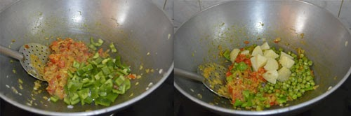 preparing tawa pulao