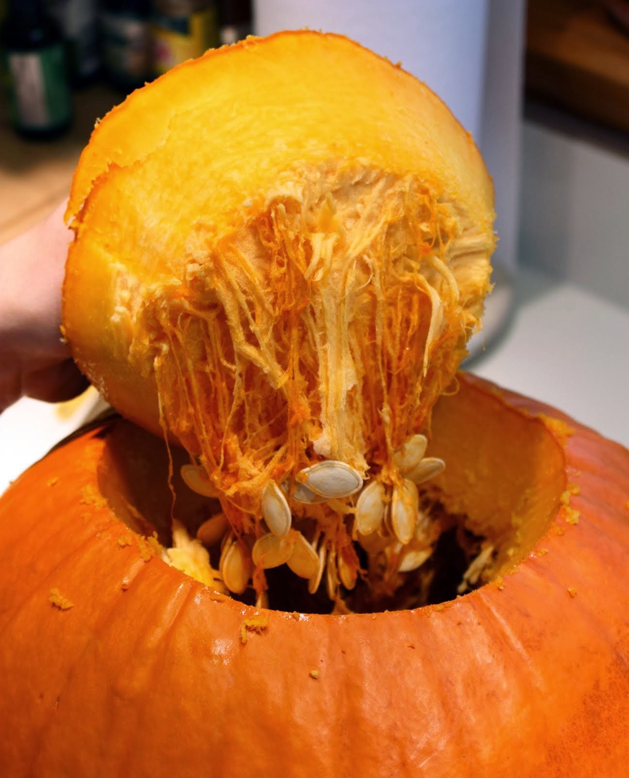 Pumpkin from inside