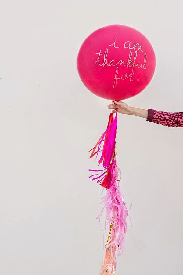 Thanksgiving in pink balloon