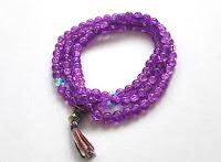 Rosario Budista color indigo
