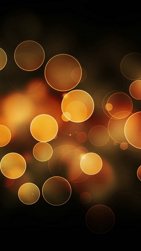 Orange Bokeh Circles  Galaxy Note HD Wallpaper