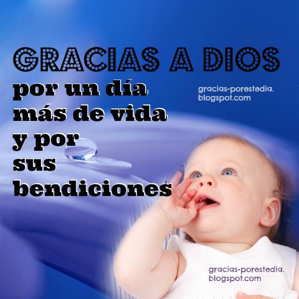 Imagen cristiana Gracias a Dios por el nuevo día, saludos facebook buen día, mensajes cristianos con versos positivos, frases cristianas