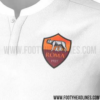 Detail jersey As Roma away terbaru musim 2015/2016