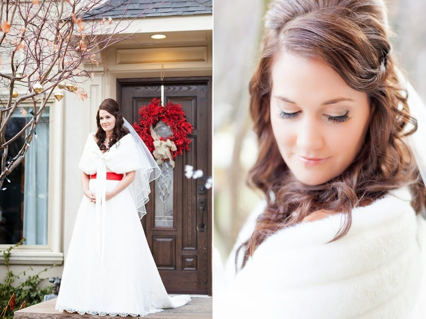 beautiful winter bride photo