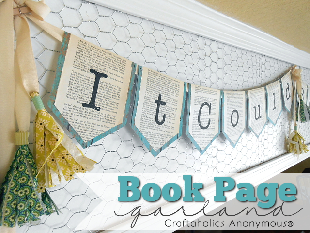Book Page Garland Tutorial by my3monsters.com