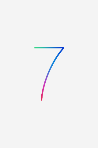 iOS 7 wallpaper for iPhone 3GS