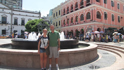 Elsie and me in downtown Macau.