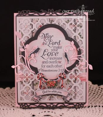 Our Daily Bread Designs: To the Lovebirds, ODBD Custom Bird Cage and Banner Dies, Love Scriptures, ODBD Custom Quatrefoil Pattern Die, ODBD Custom Quatrefoil Designs Die, Banner Sentiments