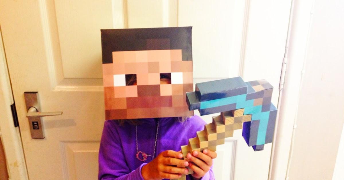 Minecraft Villager Head Costume steve-mask.jpg