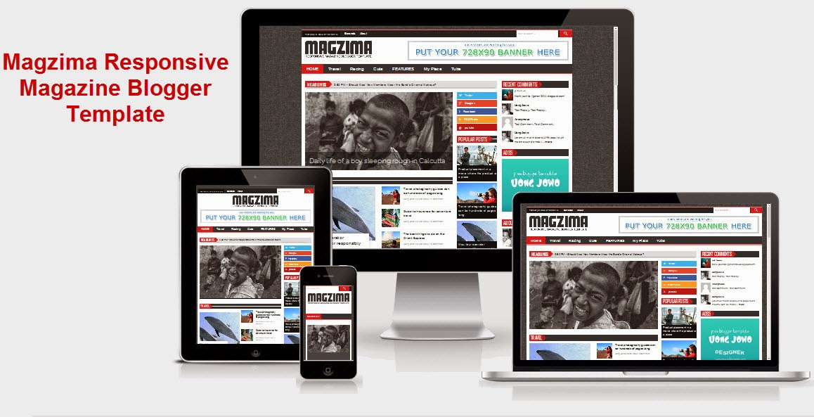 magzima responsive magazine blogger template. Black Bedroom Furniture Sets. Home Design Ideas
