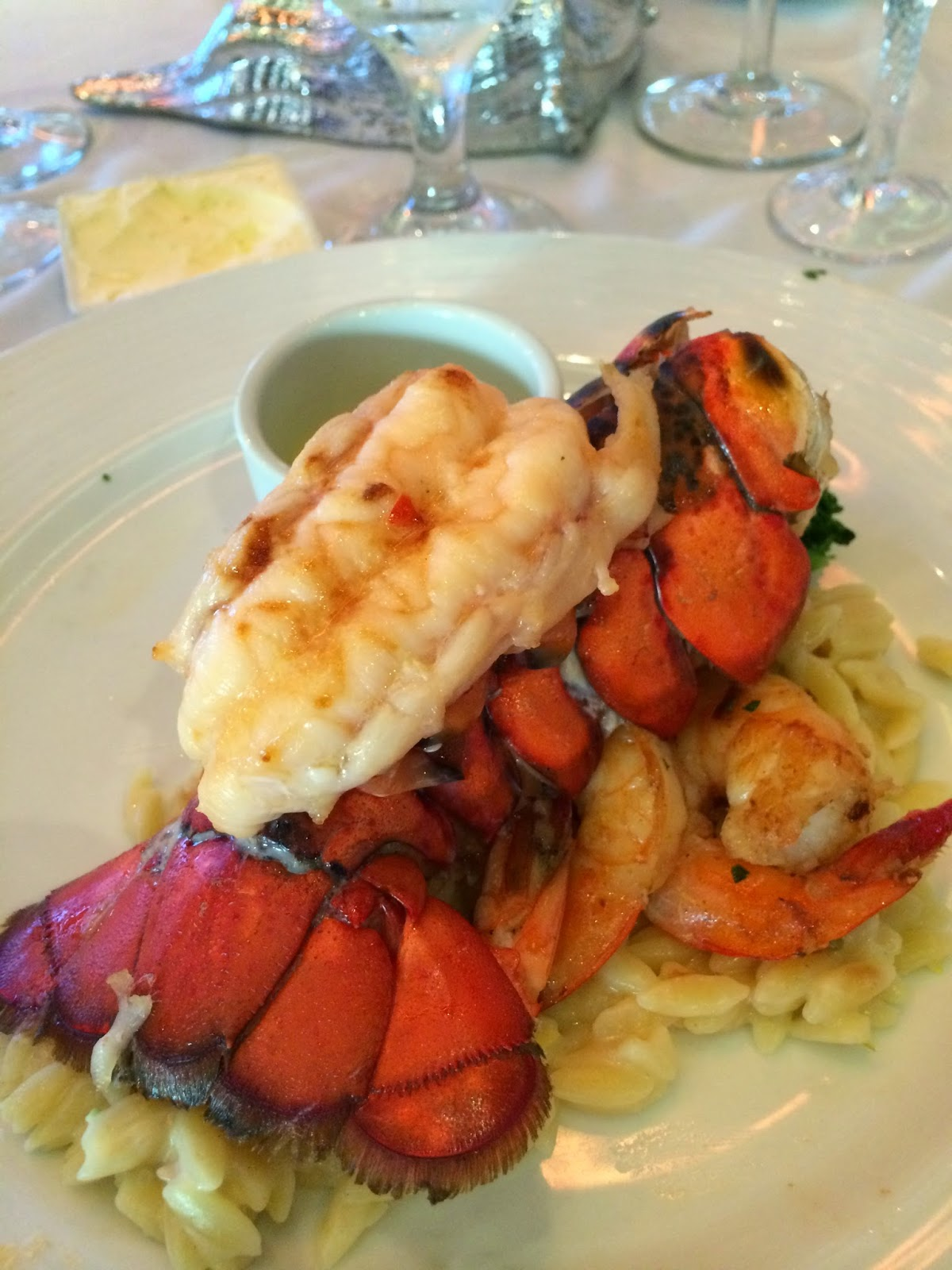 lobster tail; cruise ship; cruise food