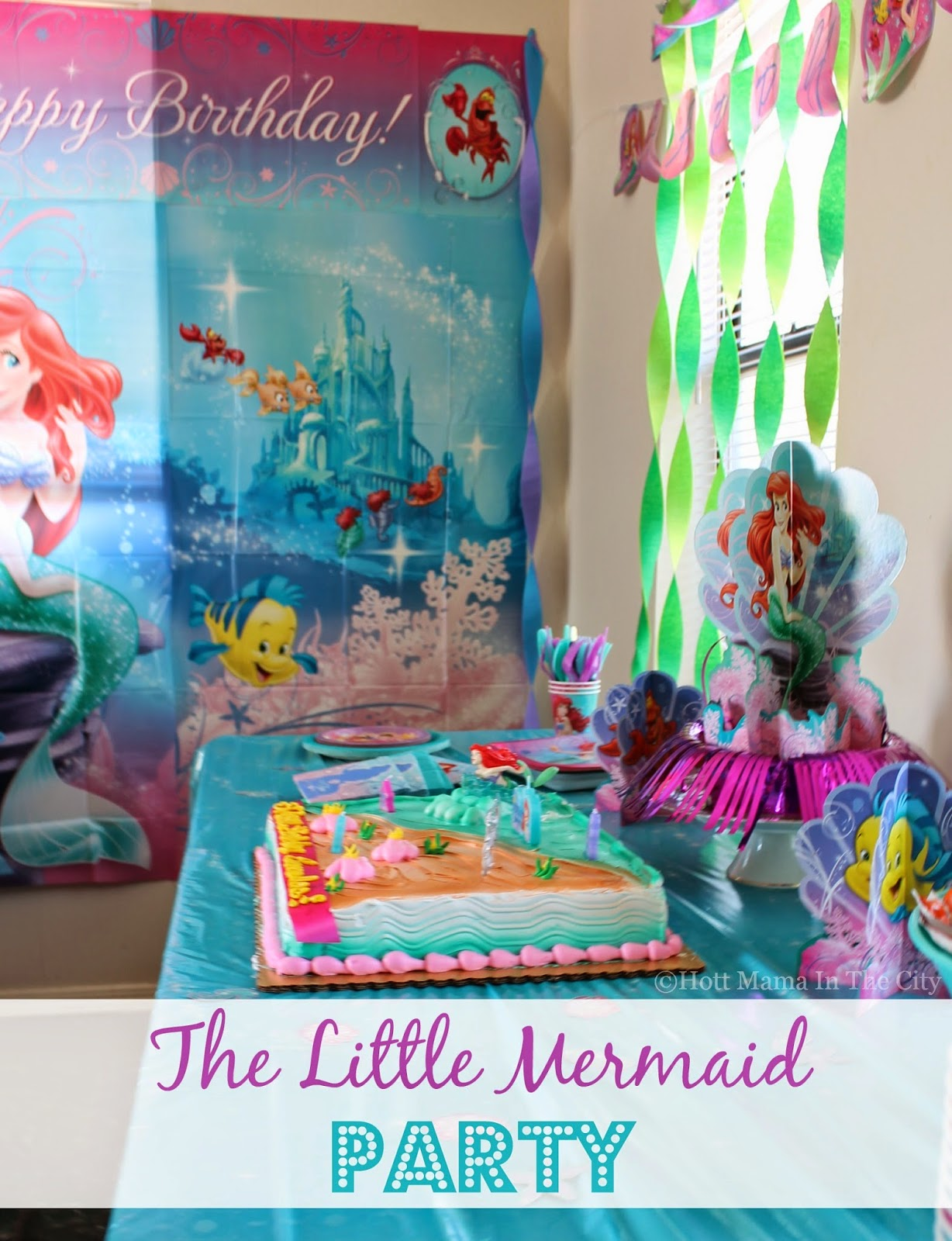Hot mama in the city under the sea with the little for Ariel decoration party
